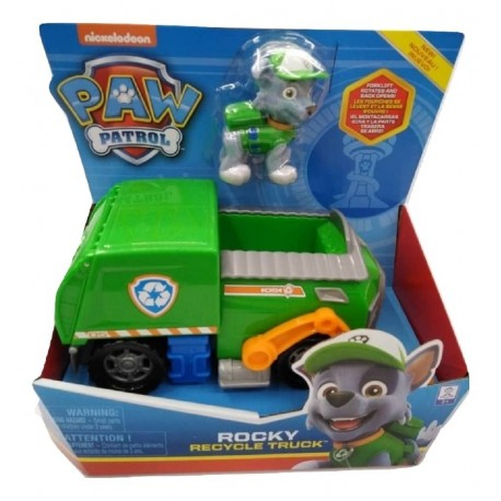 Paw Patrol Basic Vehicles Rocky Recycle Truck