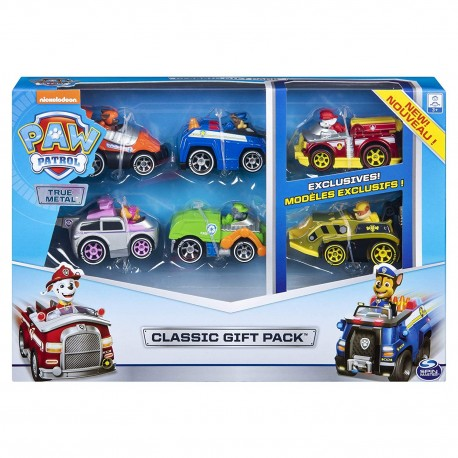 Paw Patrol True Metal Classic Gift Pack of 6 Collectible DIE-CAST Vehicles