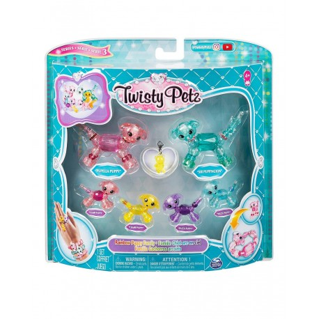 Twisty Petz series 3 Rainbow Puppy Family Pack Collectible Bracelet