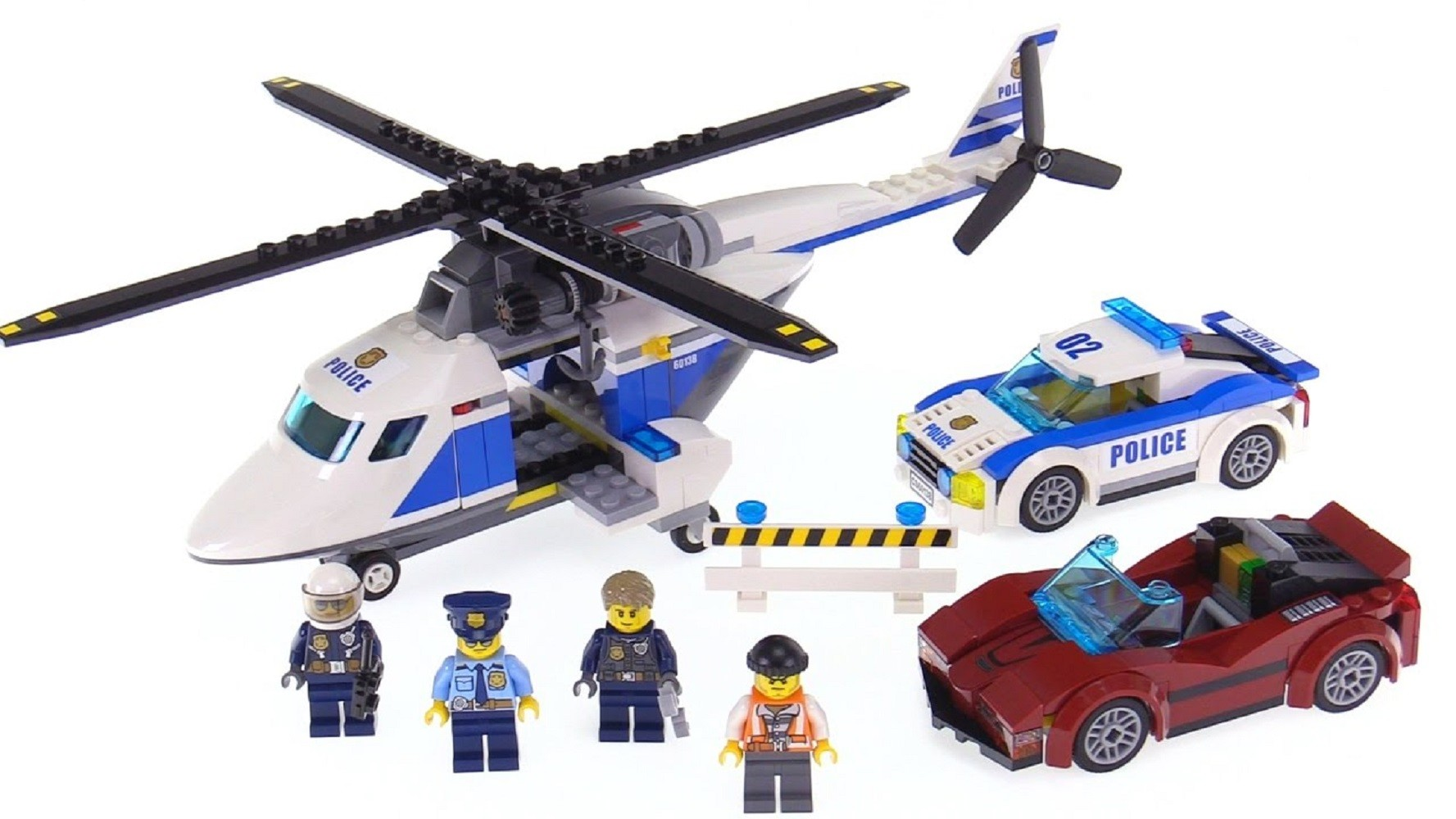 LEGO  City police helicopter and car 60138