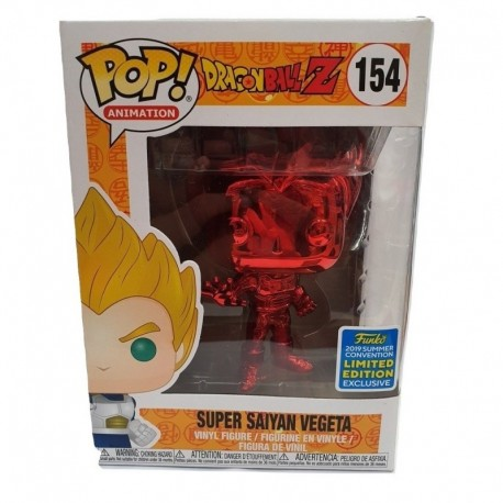 Vinyl Figure Super Saiyan Vegeta Funko POP Red Chrome Movies: Dragon Ball Z