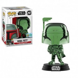 Funko Pop! Star Wars 297: Boba Fett (Green Chrome) [SDCC 2019 Summer Convention] (Exclusive)