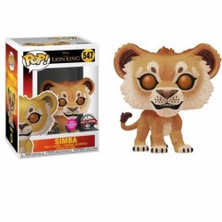 Funko Pop! Disney 547: Lion King 2019 - Simba (Flocked) (Exclusive)