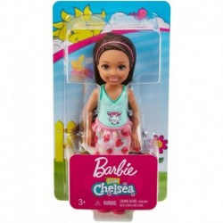 Barbie Club Chelsea Doll - Brunette Girl with Tiger Blouse