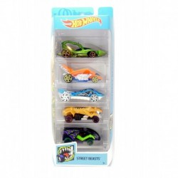 Hot Wheels Street Beasts 5-Car Pack