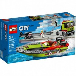 LEGO City Great Vehicles 60254 Race Boat Transporter