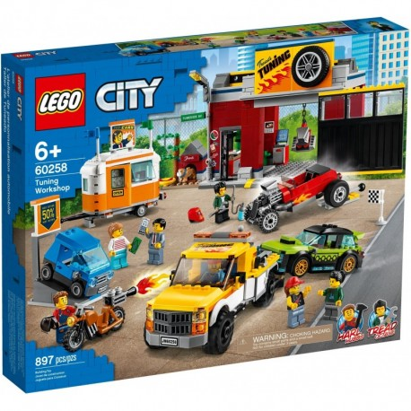 LEGO City Nitro Wheels 60258 Tuning Workshop