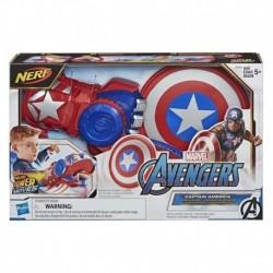 Nerf Power Moves Marvel Avengers Captain America Shield Sling Disc-Launching