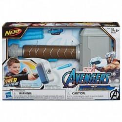 Nerf Power Moves Marvel Avengers Thor Hammer Strike Dart-Launching