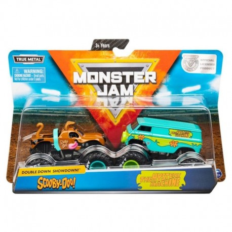 Monster Jam 1:64 2 Packs Double Down Showdown - Scooby-Doo vs. The Mystery Machine