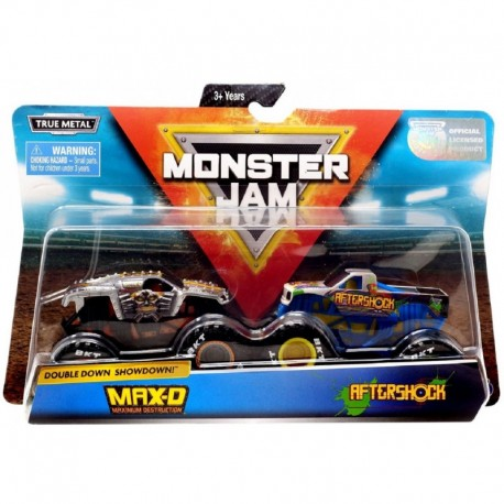 Monster Jam 1:64 2 Packs Double Down Showdown - Max-D vs. Aftershock