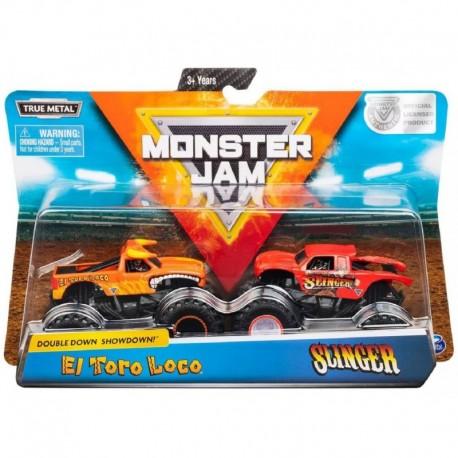 Monster Jam 1:64 2 Packs Double Down Showdown - El Toro Loco vs. Slinger