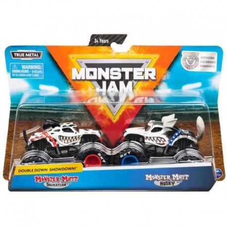 Monster Jam 1:64 2 Packs Double Down Showdown - Monster Mutt Dalmatian vs. Monster Mutt Husky