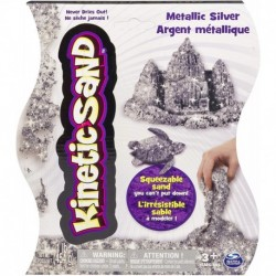 Kinetic Sand Metallic Sand 1lb (454g) - Silver
