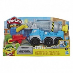 Play-Doh Wheels Cement Truck Toy with 4 Colors