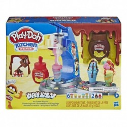 Play-Doh Kitchen Creations Drizzy Ice Cream Playset with 6 Colors