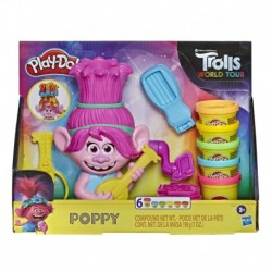 Play-Doh Trolls World Tour Rainbow Hair Poppy Styling Toy