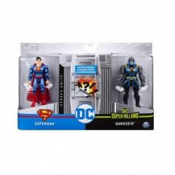 DC Comics 4-Inch Battle Action Figure 2 Pack - S1 V1 M2 Superman vs Darkside