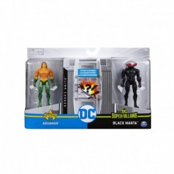 DC Comics 4-Inch Battle Action Figure 2 Pack - M1 Aquaman vs Black Manta