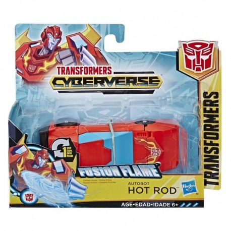 Transformers Toys Cyberverse Action Attackers: 1-Step Changer Autobot Hot Rod Action Figure