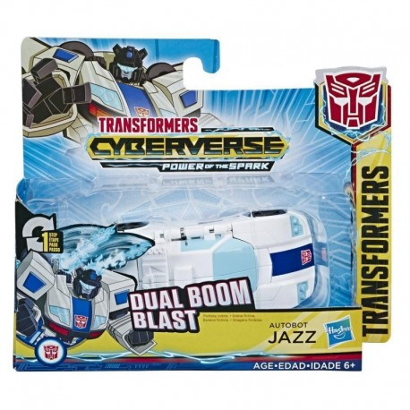 Transformers Cyberverse Action Attackers: 1-Step Changer Autobot Jazz Action Figure