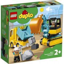 LEGO DUPLO Town 10931 Truck & Tracked Excavator