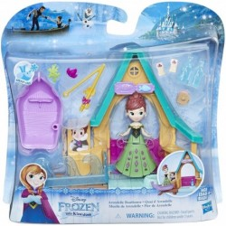 Disney Frozen Mini Playset Anna Fashion Doll Arendelle Boathouse
