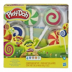 Play-Doh Lollipop 4-Pack of Pretend Play Candy Molds filled with 3 Ounces of Non-Toxic Play-Doh Modeling Compound