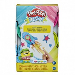 Play-Doh Elastix Compound 4-Pack Bright Color