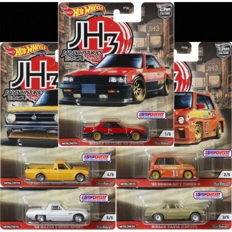 Hot Wheels Japan Historics 3 Complete Box of 10