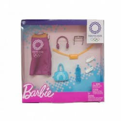 Barbie Tokyo 2020 Olympics Fashion Pack with 6 Accessories - Purple Dress