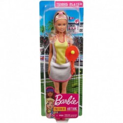 Barbie Tennis Player Doll, Blonde, Wearing Chic Tennis Outfit