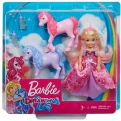 Barbie Dreamtopia Gift Set, Chelsea Princess Doll with Baby Unicorns