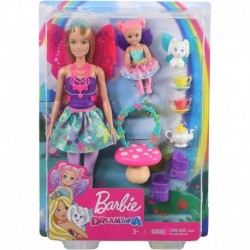 Barbie Dreamtopia Tea Party Playset with Barbie Fairy Doll and Accessories