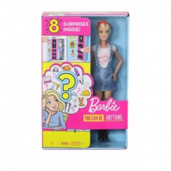 Barbie Surprise Doll, Blonde with 2 Career Looks and Accessories