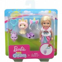 Barbie Club Chelsea Dress-Up Doll in Unicorn Costume