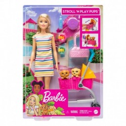 Barbie Stroll 'n Play Pups Playset with Barbie Doll