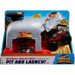 Hot Wheels Monster Trucks Pit and Launch Play Set - Bone Shaker