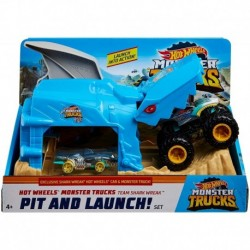 Hot Wheels Monster Trucks Pit and Launch Play Set - Shark Wreak