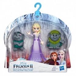Disney Frozen Elsa Small Doll With Troll Figures