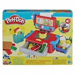 Play-Doh Cash Register Toy with 4 Non-Toxic Play-Doh Colors