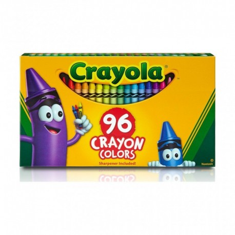 Crayola Classic Color Crayons in Flip-Top Pack with Sharpener, 96 Colors