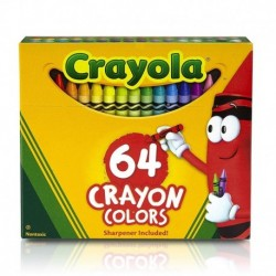 Crayola Classic Color Crayons in Flip-Top Pack with Sharpener, 64 Colors