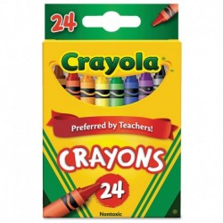 Crayola Classic Color Crayons, Peggable Retail Pack, 24 Colors