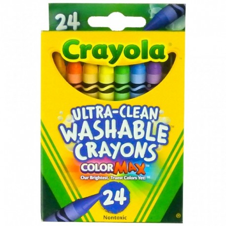 Crayola Ultra-Clean 24 Color Washable Crayon Box