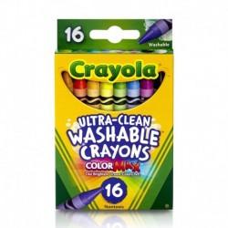 Crayola Ultra-Clean 16 Color Washable Crayon Box
