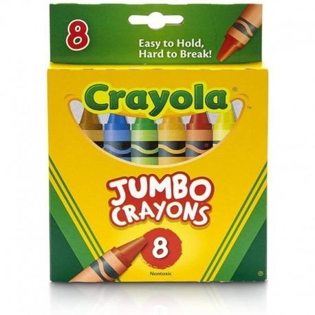 Crayola 8 Color Jumbo Size Crayons