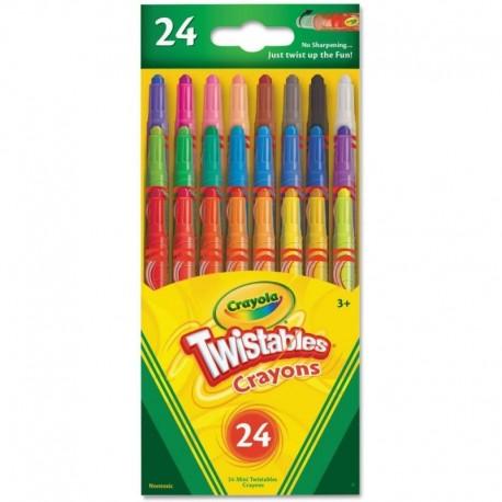 Crayola 24 Colors Mini Twistable Crayons