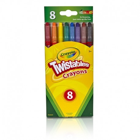 Crayola 8 Colors Twistable Crayons