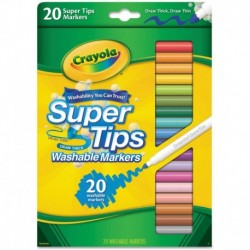 Crayola 20 Colors Super Tips Washable Marker